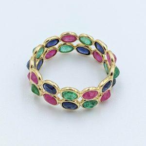 Emerald Ruby Blue Sapphire