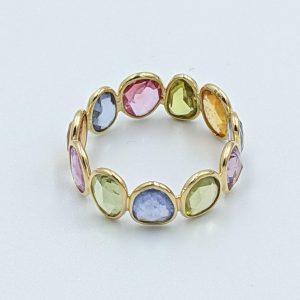 Multi color sapphire