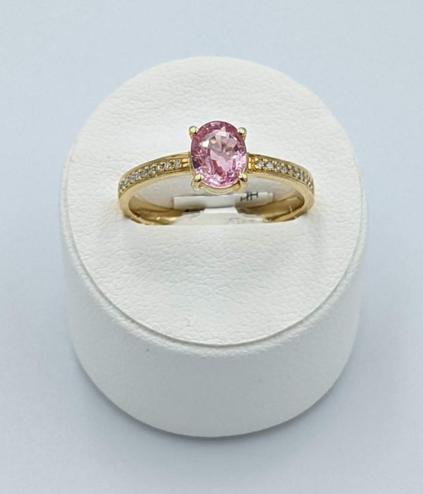 Pink Sapphire micropave ring